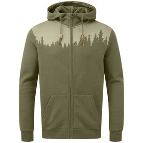 tentree Juniper Zip Hoodie Men olive night green heather